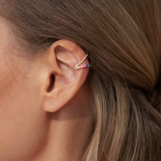 by Vilma rainbow ear cuff
