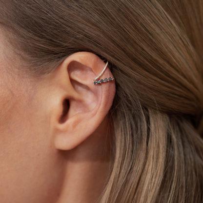 by vilma black diamond ear cuff, timantti ear cuff