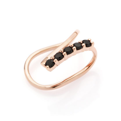 by Vilma black diamond ear cuff