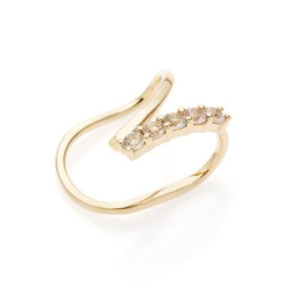 by Vilma sapphire ear cuff